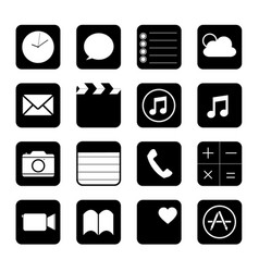 touchscreen smart phone mobile button vector image
