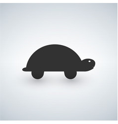 turtle icon isolated on white background vector image