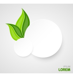 Two paper circles with leaves vector image