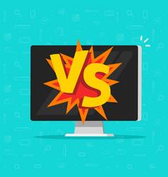 versus battle on computer vector image