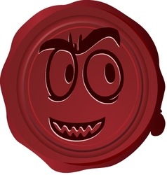 Wax seal Smiley 19 vector image