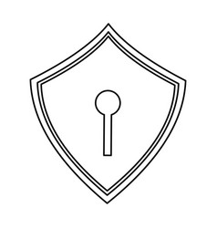 web security padlock shield vector image