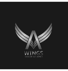 Wings A letter logo vector image vector image