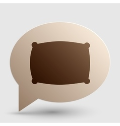 Pillow sign  brown gradient icon on vector