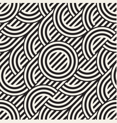 Seamless monochrome waving pattern abstract vector