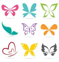 Group of butterflies vector