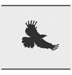 Eagle icon black color on transparent vector