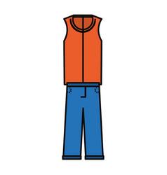 Man fashion wear vector