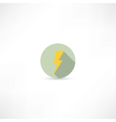 Lightning icon vector