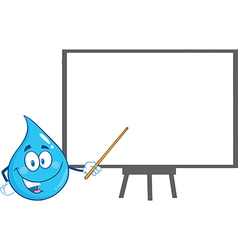 Waterdrop cartoon vector image