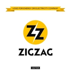 Logo for electricity energy company lightning and vector