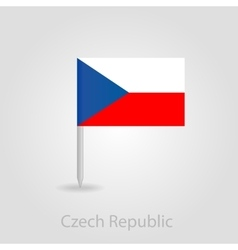 Czech republic flag pin map icon vector