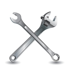 Tool on a white background wrench and object tool vector