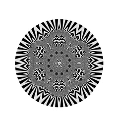 Ornamental grey round vector
