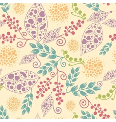 Abstract Leaves Seamless Pattern Background vector image