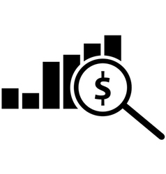 Analyse icon vector