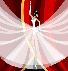Ballerina in white vector