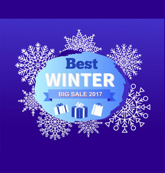 best winter big sale 2017 vector image