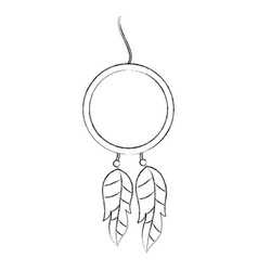 Boho style dream catcher vector