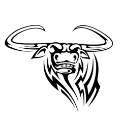 Buffalo mascot isolated on white vector image vector image