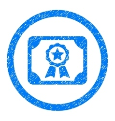 Certificate rounded icon rubber stamp vector