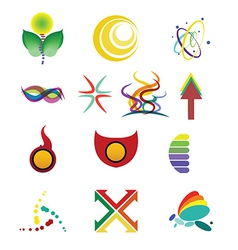 colorful logo designs second set vector image vector image