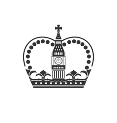 Concept of british crown isolated on white vector
