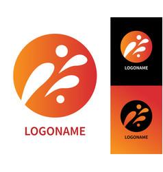 design modern art logo vector image