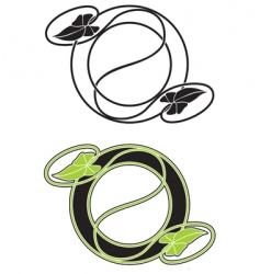 floral vignette vector image vector image
