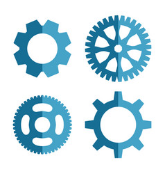 gear or cog icon vector image vector image