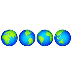 Globes collection vector image vector image