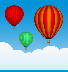 Hot air balloons in the sky background with vector