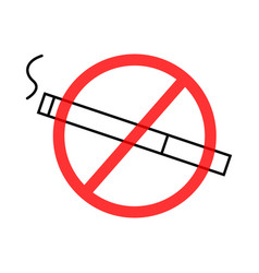 Image of a prohibiting smoking sign a flat vector