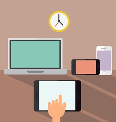 Laptop smartphone and tablet devices vector