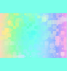 Light rainbow glowing various tiles background vector