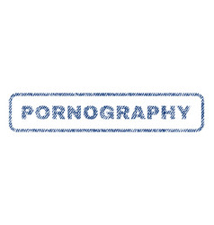 pornography textile stamp vector image vector image