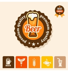 Premium beer logo vector