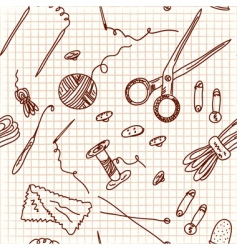 sewing doodle vector image vector image