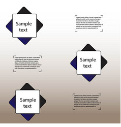 Simple geometric infographics vector
