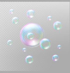 Transparent soap bubbles Realistic soap bubbles vector image vector image
