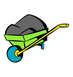 Unicycle trolley icon icon cartoon vector