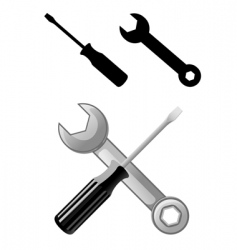Wrench and screwdriver vector