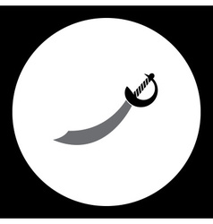 Black and gray sabre sword simple isolated icon vector