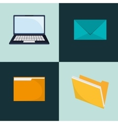 Laptop and envelope icons image vector