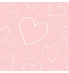 Lovely pink background with hearts vector