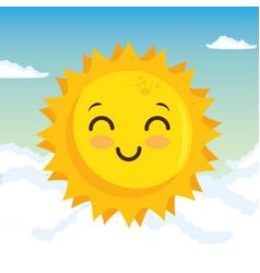 Happy sun design vector