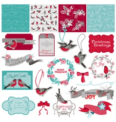 Christmas Birds Theme vector image