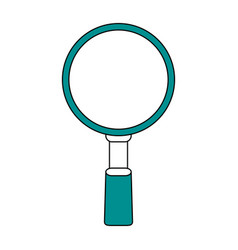 magnifying glass flat vector image