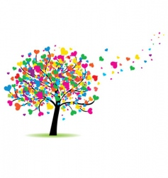 love tree vector image