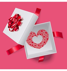 Love box with heart inside vector